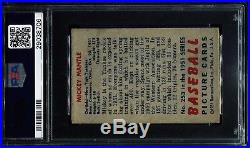 1951 Bowman #253 Mickey Mantle PSA 4.5 Rookie RC Centered