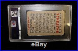 1951 Bowman #253 Mickey Mantle PSA PR 1(MK) Rookie Baseball Card