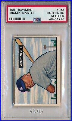 1951 Bowman #253 Mickey Mantle Rookie, High # Psa Authentic/altered (svsc)