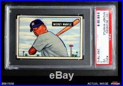 1951 Bowman #253 Mickey Mantle Yankees PSA 3 VG