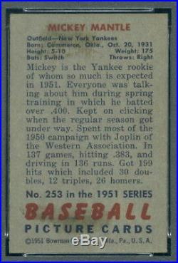 1951 Bowman 253 (R) Mickey Mantle PSA 5 (9846)