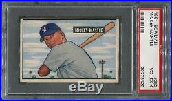1951 Bowman Baseball #253 Mickey Mantle Rookie PSA 4 (VG-EX)