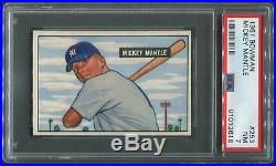 1951 Bowman Baseball #253 Mickey Mantle Rookie PSA 7 (NM)