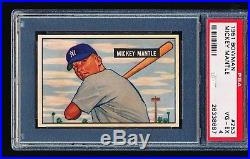 1951 Bowman MICKEY MANTLE RC #253 PSA 4 Looks Like An 8