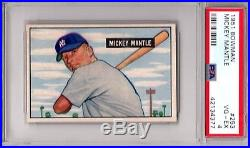 1951 Bowman MICKEY MANTLE Rookie #253 PSA 4 VG-EX Cond. HI-END NO CREASES