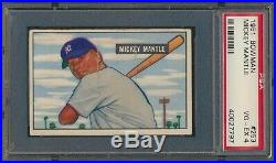 1951 Bowman MICKEY MANTLE Rookie New York Yankees PSA 4