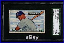 1951 Bowman MICKEY MANTLE Rookie RC Yankees HOF #253 SGC 2.5