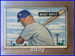 1951 Bowman Mickey Mantle #253 GOOD PSA 2 MANTLE ROOKIE
