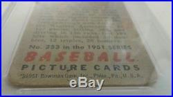 1951 Bowman Mickey Mantle #253 PSA 1