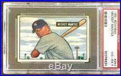 1951 Bowman Mickey Mantle #253 PSA 4 VG-EX