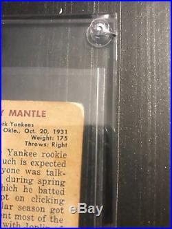 1951 Bowman Mickey Mantle New York Yankees #253 Baseball Card RC one of a kind