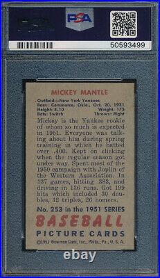 1951 Bowman Mickey Mantle PSA 4 SGC 5