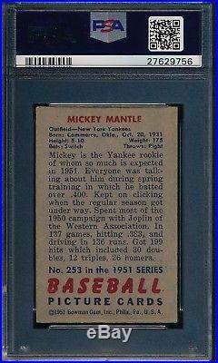 1951 Bowman Mickey Mantle RC PSA 4