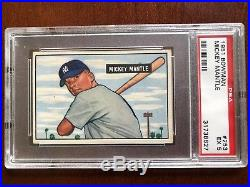 1951 Bowman Mickey Mantle ROOKIE #253 PSA 5 NICELY CENTERED