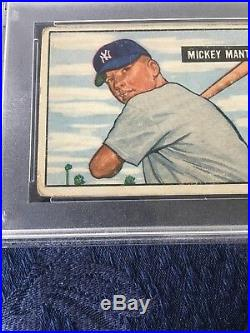 1951 Bowman Mickey Mantle ROOKIE RC #253 PSA 2 Nice Centering & Color