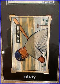 1951 Bowman Mickey Mantle Rookie #253 SGC Authentic