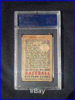 1951 Bowman Mickey Mantle Rookie Card PSA 1.5 HOF