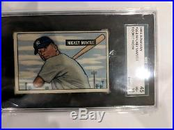 1951 Bowman Mickey Mantle Yankees RC SGC 45 HOF High #