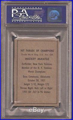 1952 Berk Ross Mickey Mantle Psa 7 Near Mint