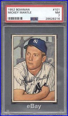 1952 Bowman #101 Mickey Mantle PSA 7