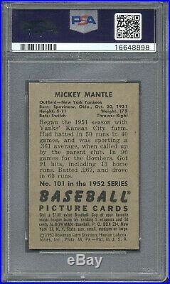 1952 Bowman #101 Mickey Mantle PSA 7.5