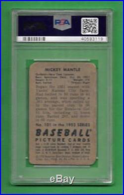 1952 Bowman #101 Mickey Mantle PSA Poor 1 New York Yankees baseball card