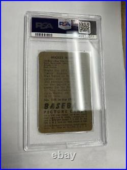 1952 Bowman Mickey Mantle New York Yankees Card #101 PSA 1