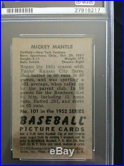 1952 Bowman Mickey Mantle PSA 6
