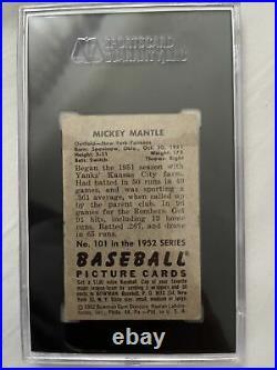 1952 Bowman Mickey Mantle SGC 3.5 PSA TBD