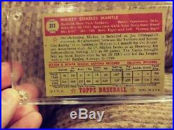 1952 TOPPS BASEBALL BUBBLE GUM MLB Mickey Mantle rookie card. 100% Authentic