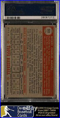 1952 Topps #311 Mickey Mantle Iconic Rookie! PSA 4 Centered! Sharp Corners