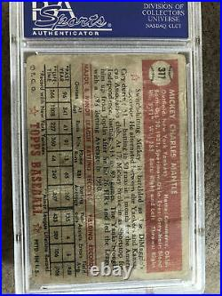 1952 Topps #311 Mickey Mantle PSA 1ROOKIE CARDRARE FINDAWESOME INVESTMENT