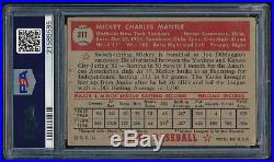 1952 Topps #311 Mickey Mantle PSA 1.5 (FR) HOF New York Yankees Centered