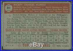 1952 Topps 311 Mickey Mantle PSA 1 (9780)