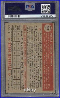 1952 Topps #311 Mickey Mantle PSA 5