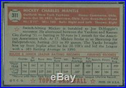 1952 Topps 311 Mickey Mantle PSA 7 (2861)