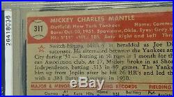 1952 Topps #311 Mickey Mantle PSA Authentic Very Presentable