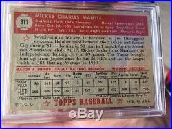 1952 Topps #311 Mickey Mantle PSA Good+ 2.5 New York Yankees HOF