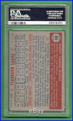 1952 Topps #311 Mickey Mantle PSA POOR 1 New York Yankees old baseball card