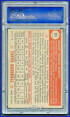 1952 Topps #311 Mickey Mantle Psa 4 Vg-ex Rookie