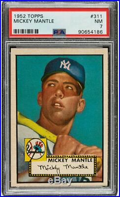 1952 Topps #311 Mickey Mantle Psa 7 Nm Rookie