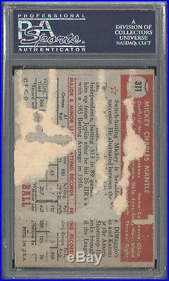 1952 Topps #311 Mickey Mantle RC PSA 1(MK) Yankees HOF Rookie Item #24617391