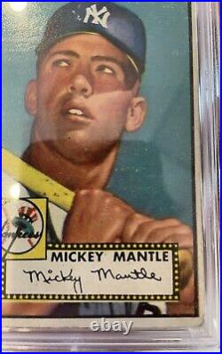 1952 Topps #311 Mickey Mantle RC Psa 1! Gorgeous With Amazing Color