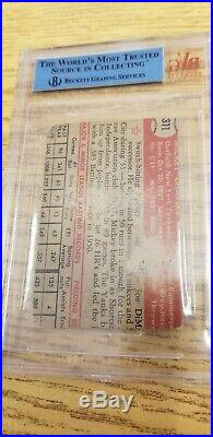1952 Topps #311 Mickey Mantle RC Rookie Card SGC authentic VINTAGE BASEBALL