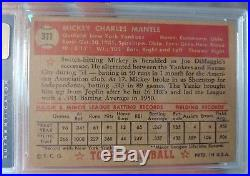 1952 Topps #311 Mickey Mantle RC Rookie HOF PSA 3 VG FANTASTIC CENTERING
