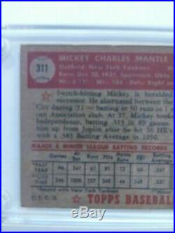 1952 Topps #311 Mickey Mantle RC Rookie Yankees Autographed Card