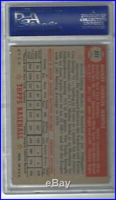 1952 Topps #311 Mickey Mantle Rc Psa 4 Original 10 Year Old 1952 Purchaser