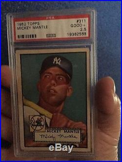 1952 Topps #311 Mickey Mantle Rc Rookie Yankees Psa 2.5