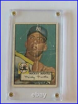 1952 Topps #311 Mickey Mantle Rookie Hi # FAIR Read Old Card Nice Looking