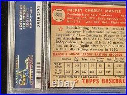 1952 Topps #311 Mickey Mantle Rookie PSA 4 VG-EX Yankee